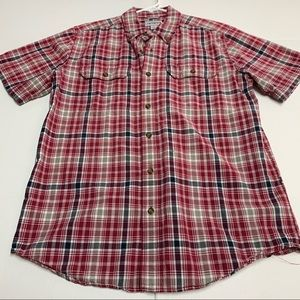 Carhartt relaxed fit plaid shirt size M
